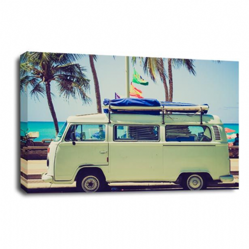 VW Camper Van Wall Art Picture California Bay Window Print